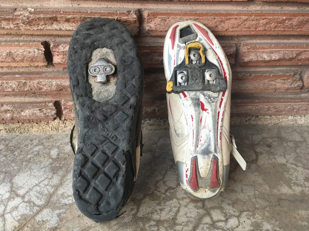 Types of cycling cleats
