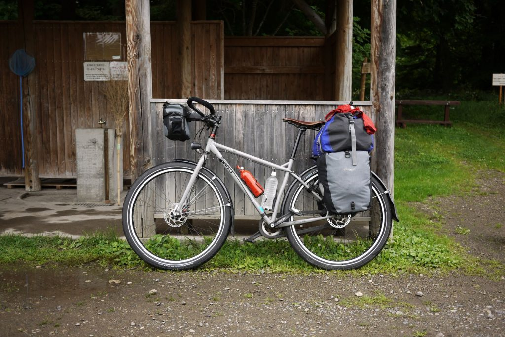 touring bike with cargo
