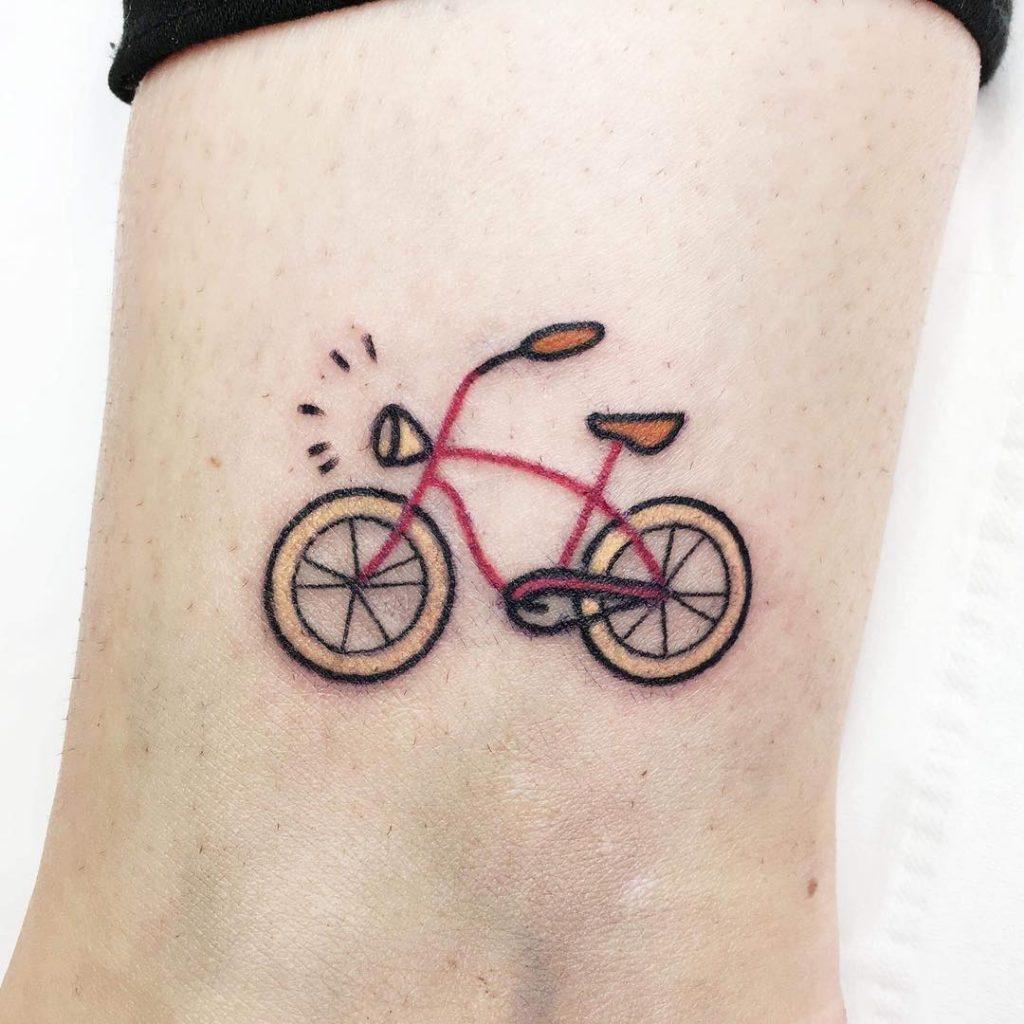 ankle bike tattoo 2