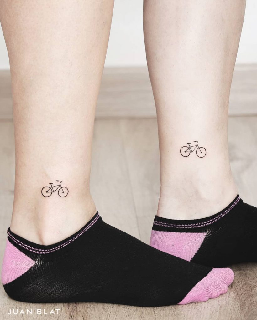 ankle bike tattoo 3