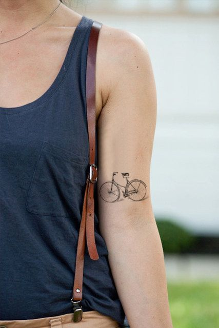Cruiser Bike Tattoo from Etsy