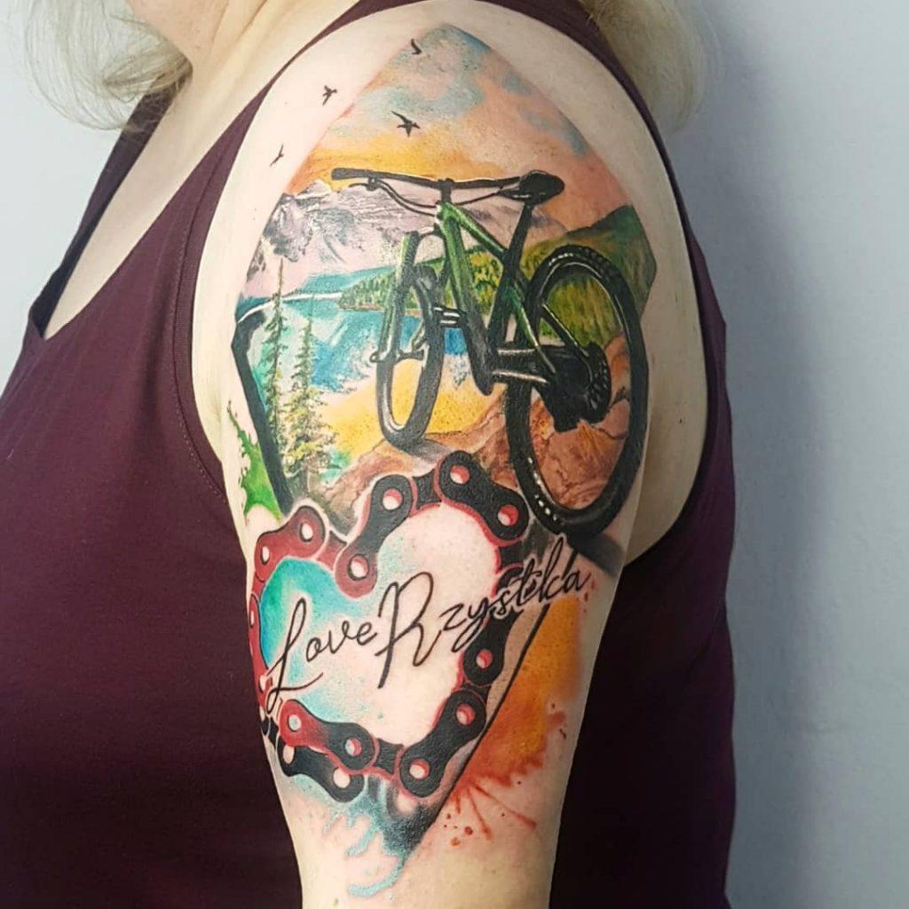 mountain bike tattoo