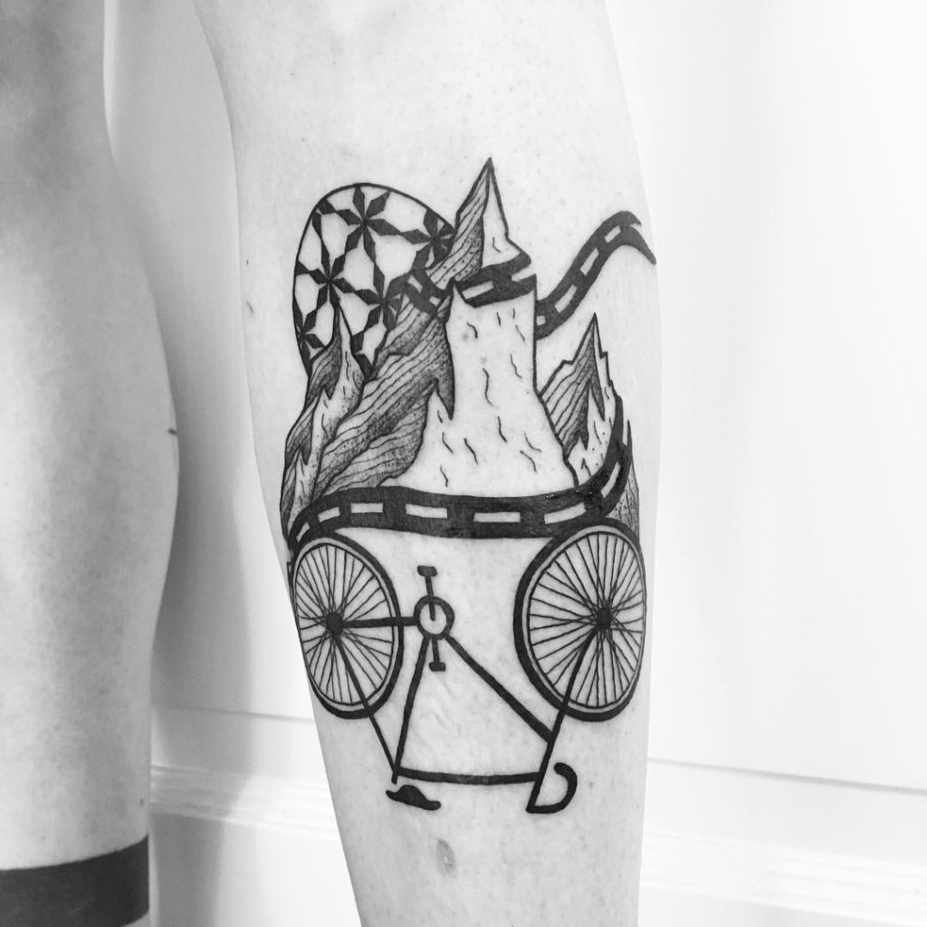 road bike tattoo