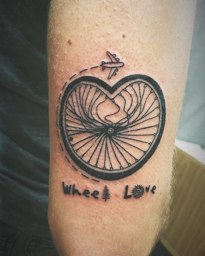 wheel love tattoo