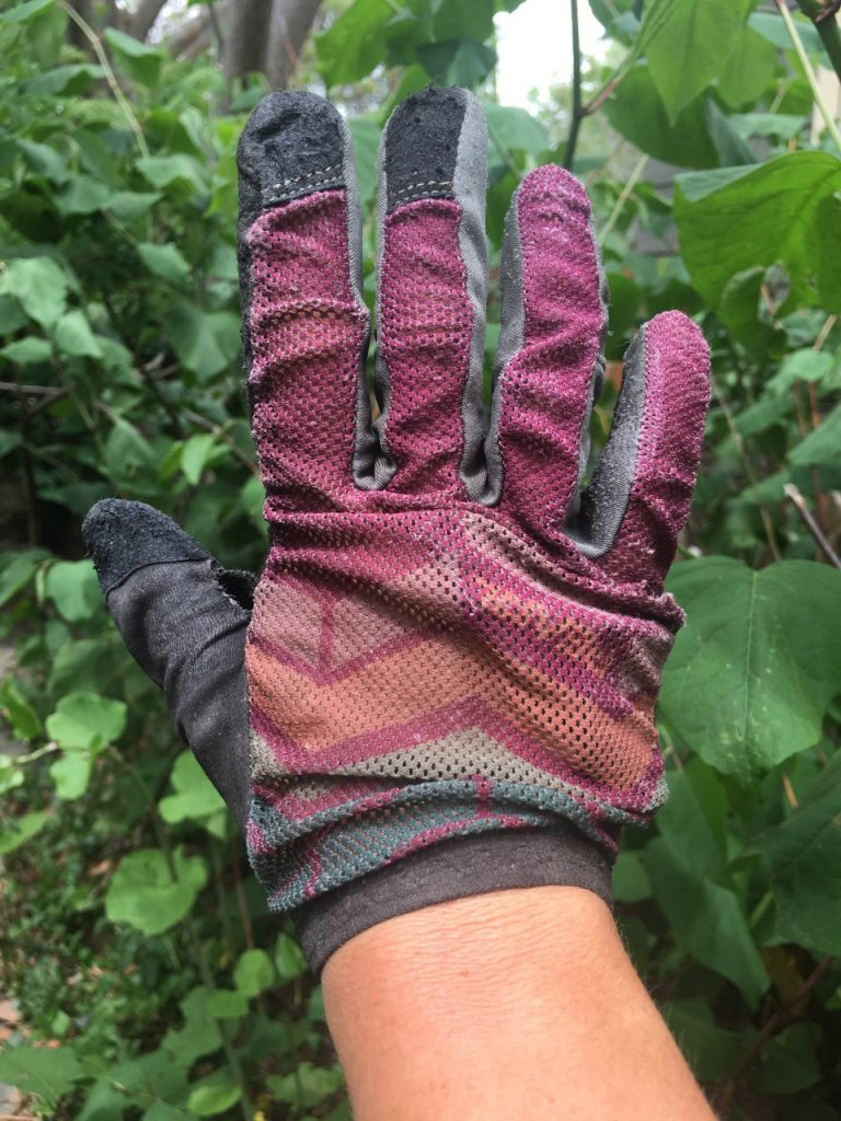 mountain bike glove mesh top