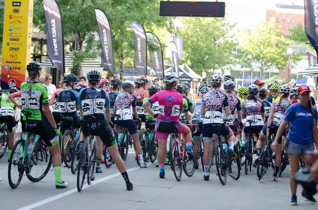 Start at the USA Crits women's pro race in SLC, UT
