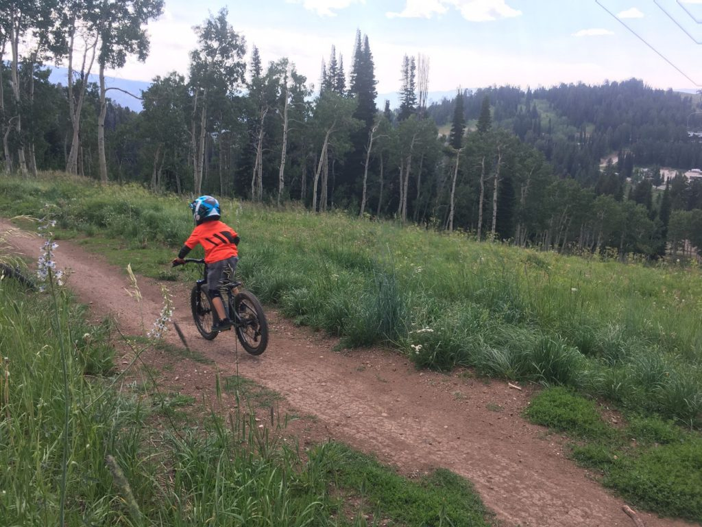grand targhee bike park with kids