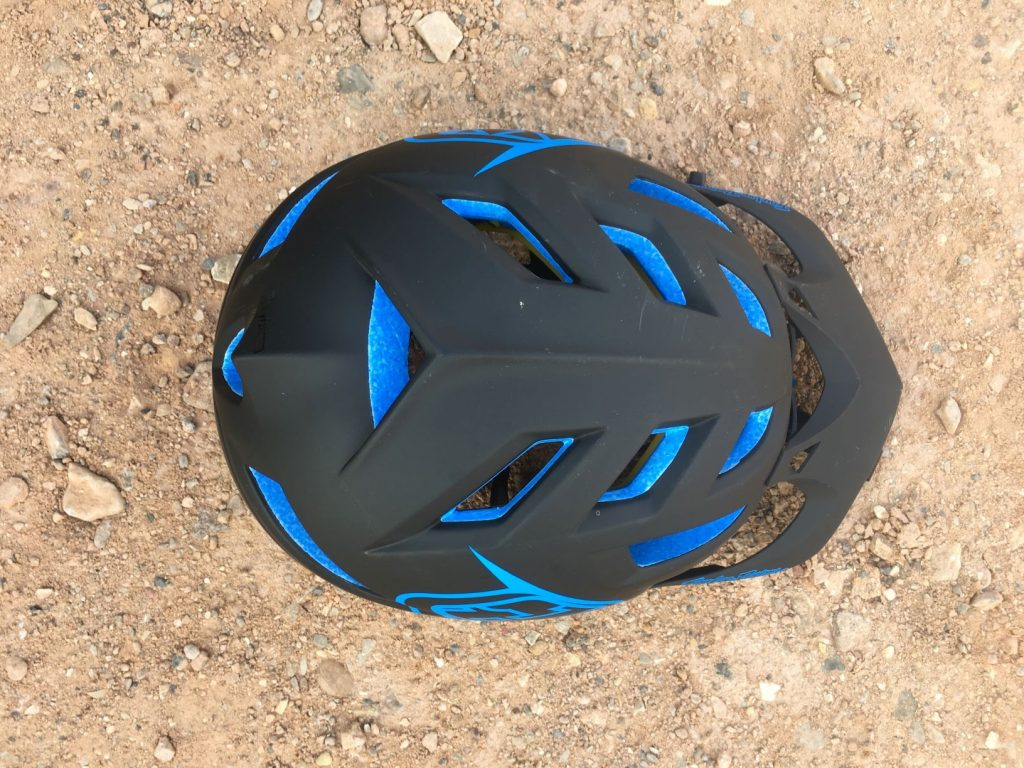 troy lee designs helmet top view