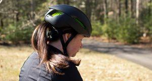 helmet with ponytail