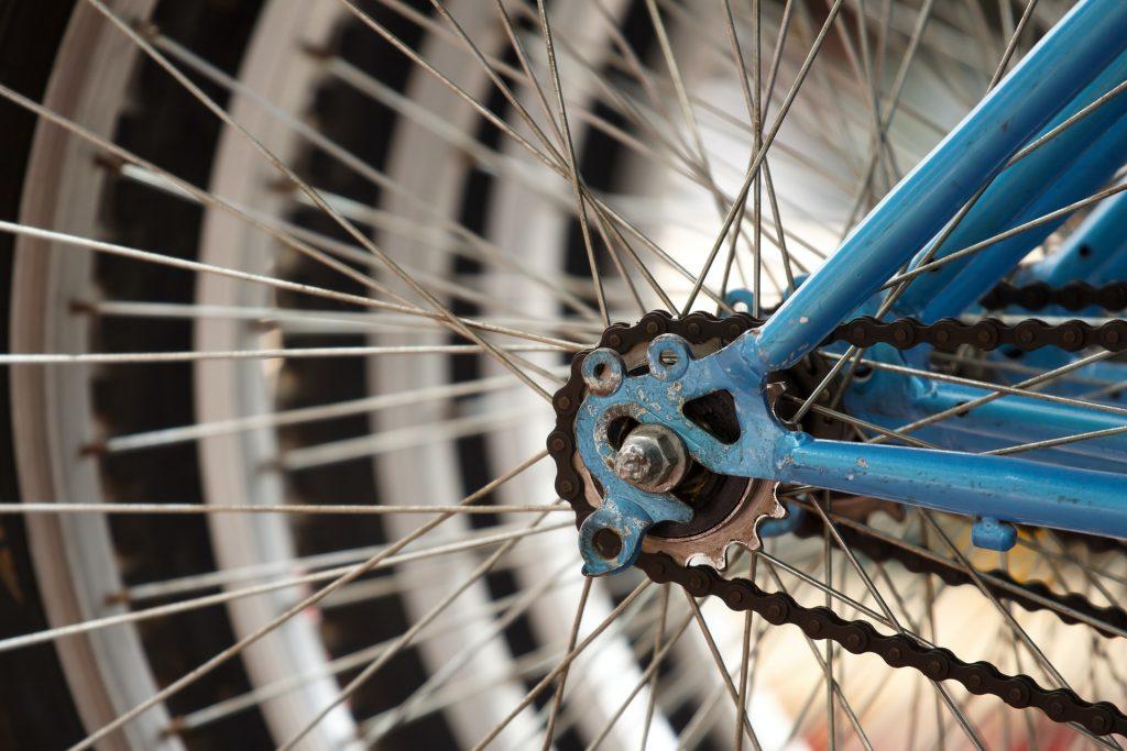 rusty bike chain